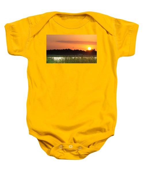 Sunrise At Lakewood Ranch Florida Baby Onesie