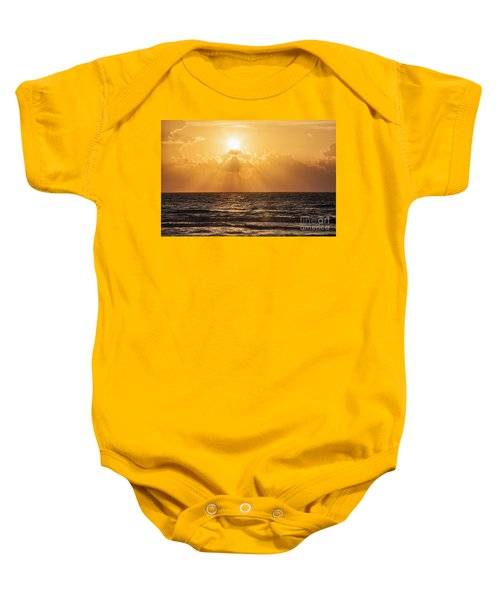 Sunrise Over The Caribbean Sea Baby Onesie