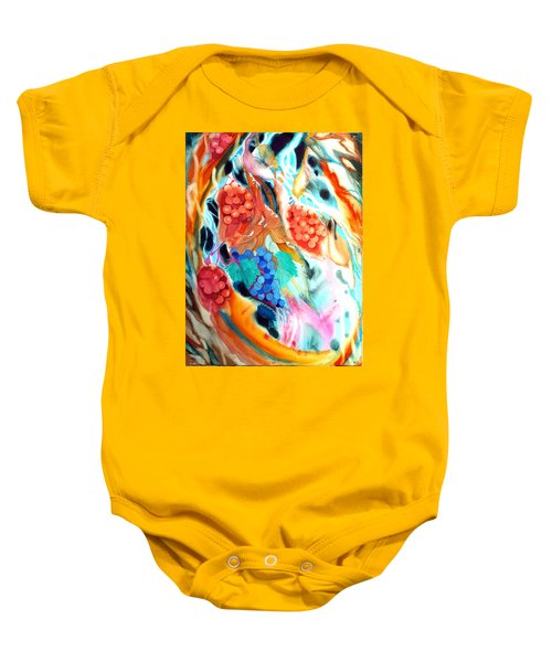 Swirling Grapes Baby Onesie
