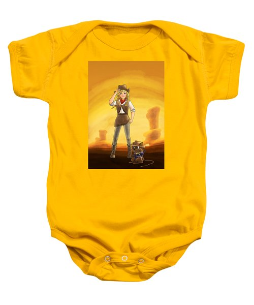 Tammy And Alfred Tame The West Baby Onesie