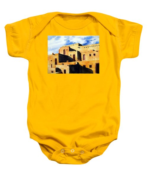 Taos Pueblo Baby Onesie
