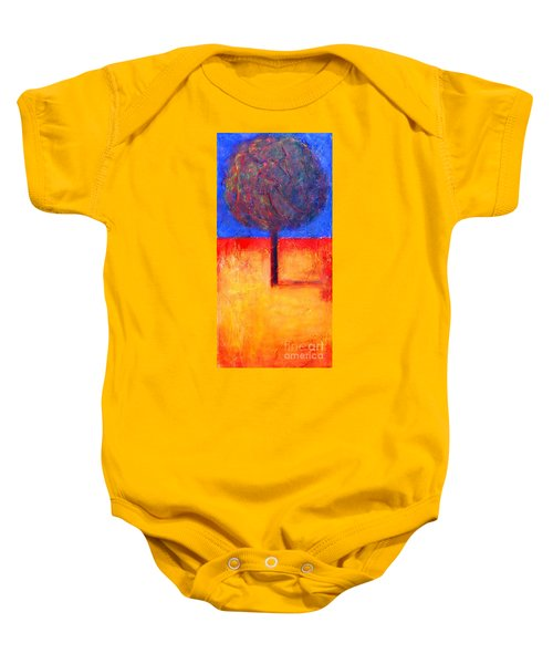 The Lonely Tree In Autumn Baby Onesie