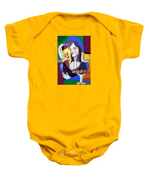 The Mona Pizza Baby Onesie
