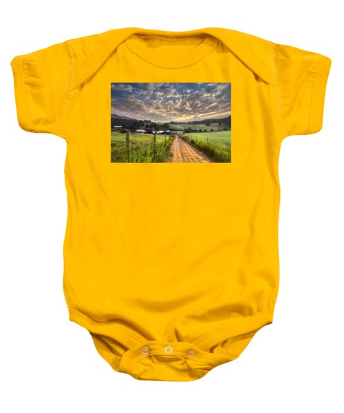 The Old Farm Lane Baby Onesie