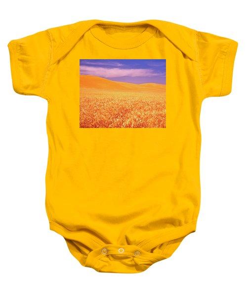 The Palouse Steptoe Butte Baby Onesie