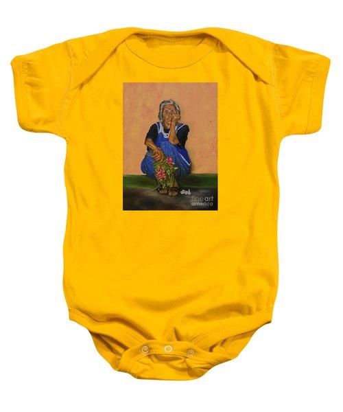 The Parga Flower Seller Baby Onesie