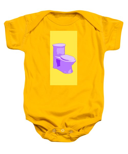 Toilette In Purple Baby Onesie