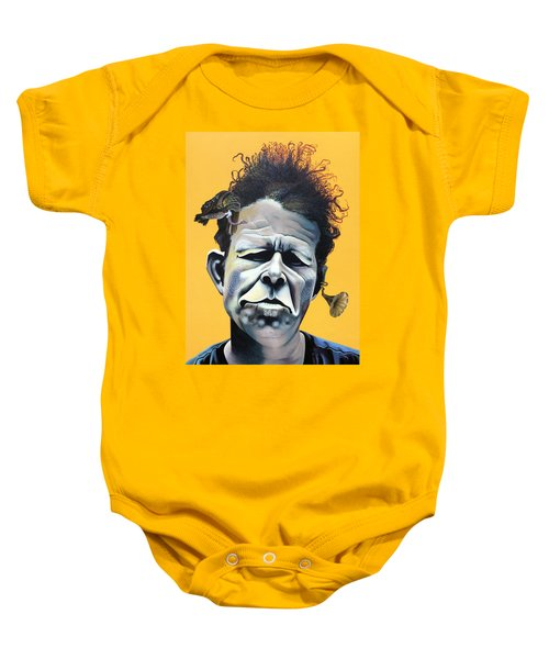 Tom Waits - He's Big In Japan Baby Onesie by Kelly Jade King