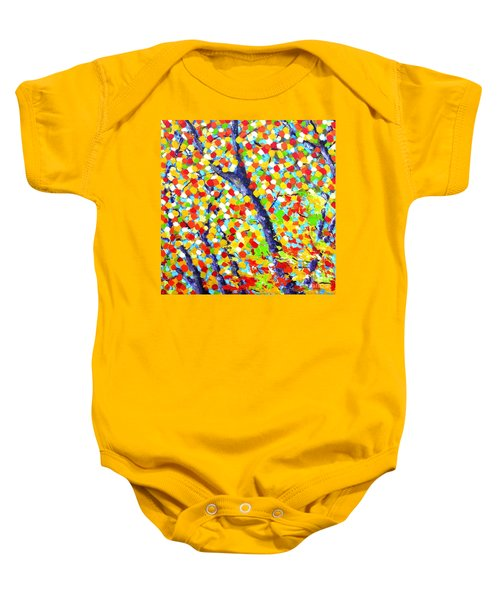 Tree At Fall Baby Onesie