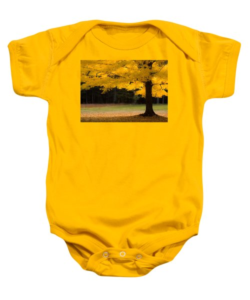 Tree Canopy Glowing In The Morning Sun Baby Onesie