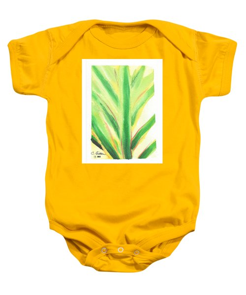Tropical Leaf Baby Onesie