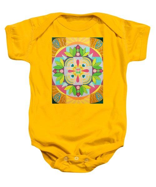 Tropical Mandala Baby Onesie