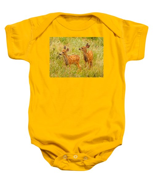 Twin Fawns Baby Onesie
