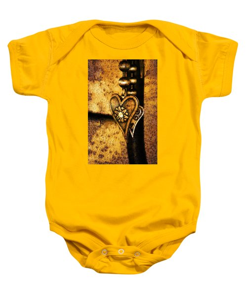 Two Hearts Together Baby Onesie