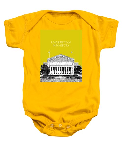 University Of Minnesota 2 - Northrop Auditorium - Mustard Yellow Baby Onesie