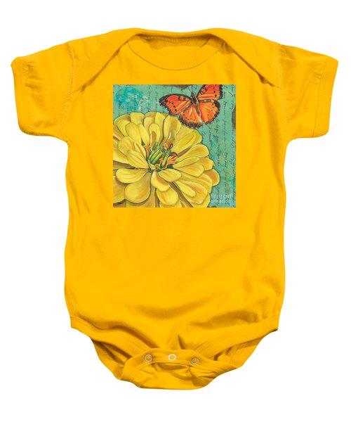 Verdigris Floral 2 Baby Onesie