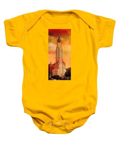 Vintage Chrysler Building Baby Onesie