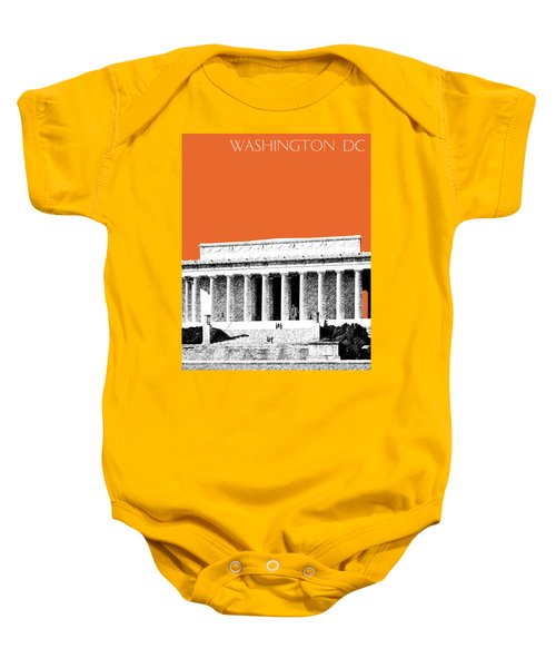 Washington Dc Skyline Lincoln Memorial - Coral Baby Onesie