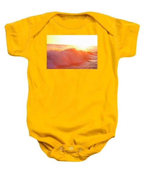 Waves In Sunset Baby Onesie
