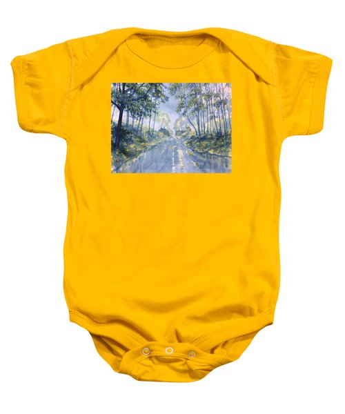 Wet Road In Woldgate Baby Onesie