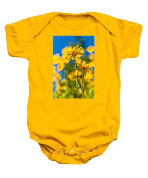 Wildflowers Standing Out Baby Onesie