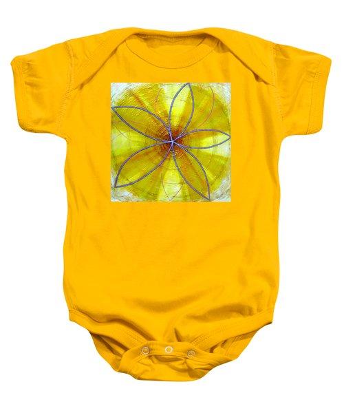 Yellow Chakra Baby Onesie