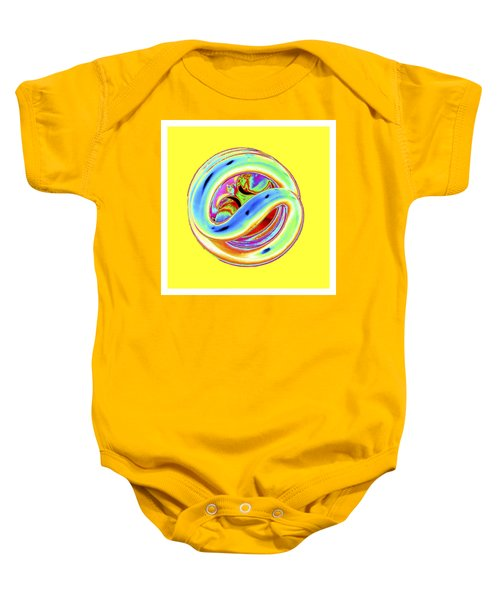 Yellow Fluorescent Baby Onesie