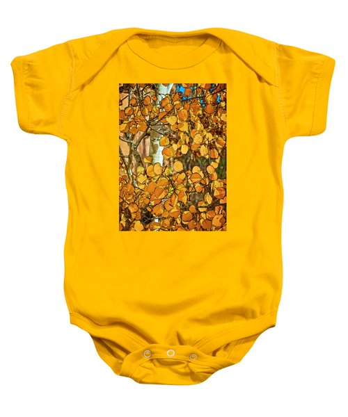 Aspens Gold Baby Onesie
