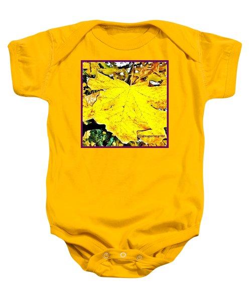 Giant Maple Leaf Baby Onesie