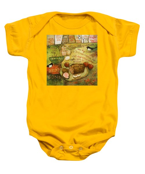Irish Brown Bread Baby Onesie by Jen Norton