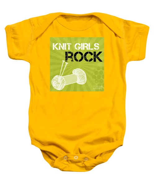 Knit Girls Rock Baby Onesie