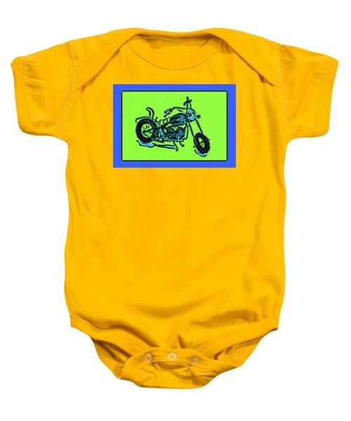 Motorbike 1c Baby Onesie