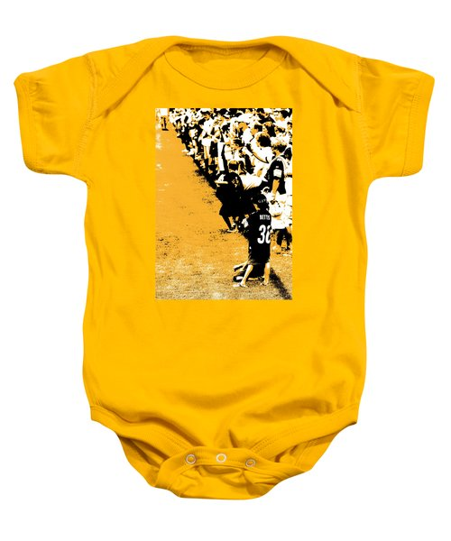Number 1 Bettis Fan - Black And Gold Baby Onesie