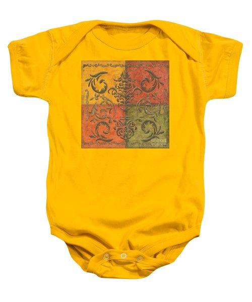 Paprika Scroll Baby Onesie