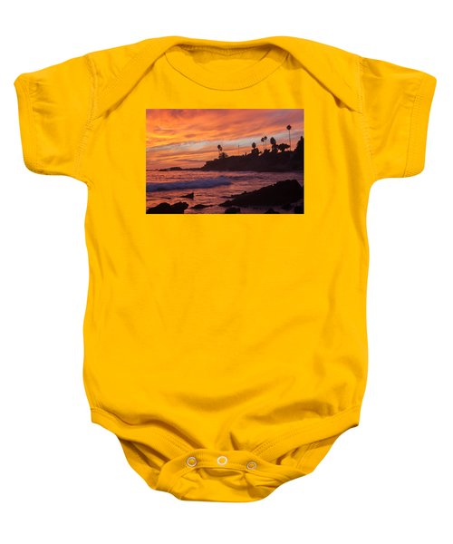 Sunset Off Laguna Beach Baby Onesie
