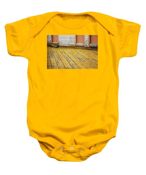 Weathered Monterey Building Baby Onesie
