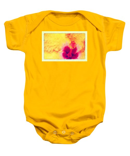 Yellow Hibiscus Flower Baby Onesie