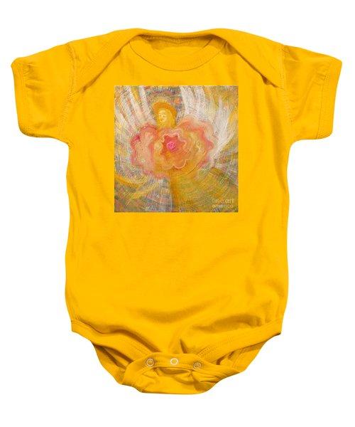 Flower Angel Baby Onesie