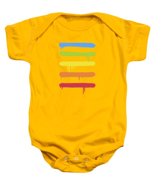 Trendy Cool Graffiti Tag Lines Baby Onesie by Philipp Rietz