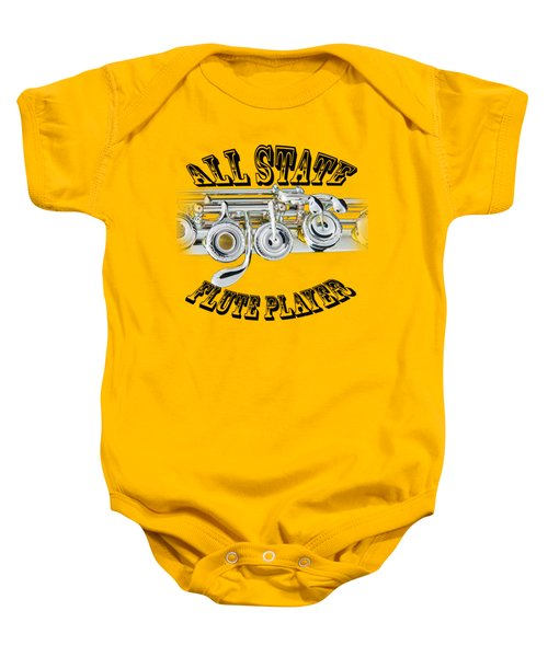 All State Flute Player Baby Onesie