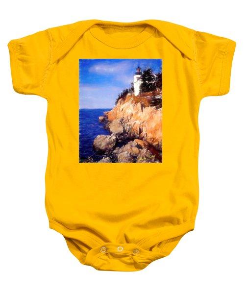 Bass Harbor Lighthouse,acadia Nat. Park Maine. Baby Onesie