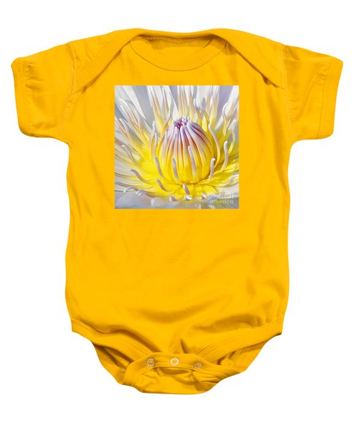 Blue Water Lily Baby Onesie