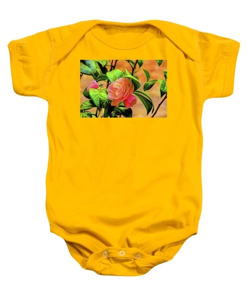 Camellia Candy Baby Onesie