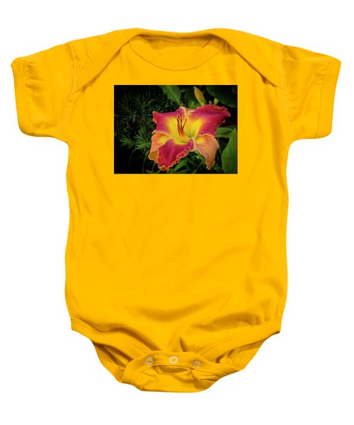 Colorful Lily  Baby Onesie