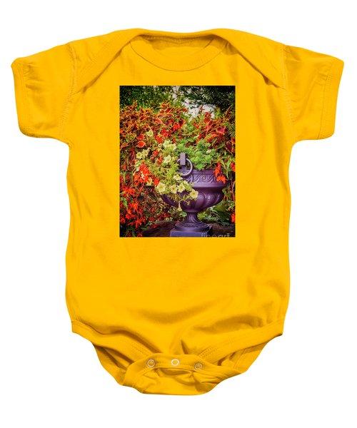 Decorative Flower Vase In Garden Baby Onesie