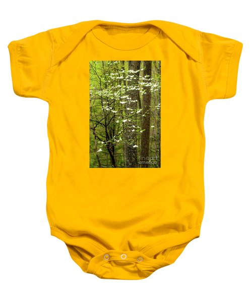 Dogwood Blooming In Forest Baby Onesie