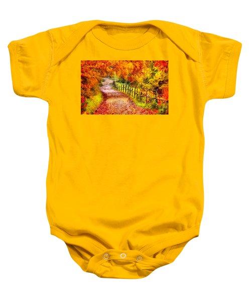 Fall Foliage Path 2 Baby Onesie