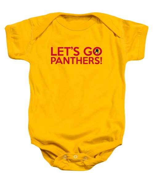 Let's Go Panthers Baby Onesie
