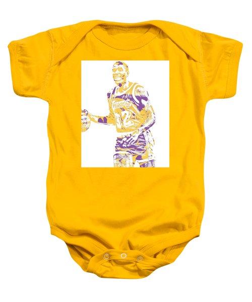 Magic Johnson Los Angeles Lakers Pixel Art 5 Baby Onesie
