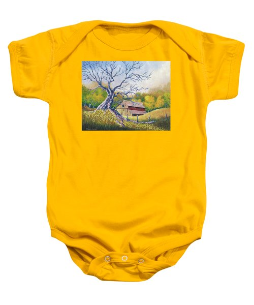Old Barn Baby Onesie